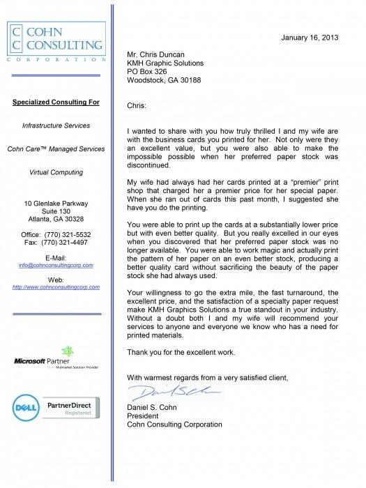 Endorsement Letters - - endorsement letters