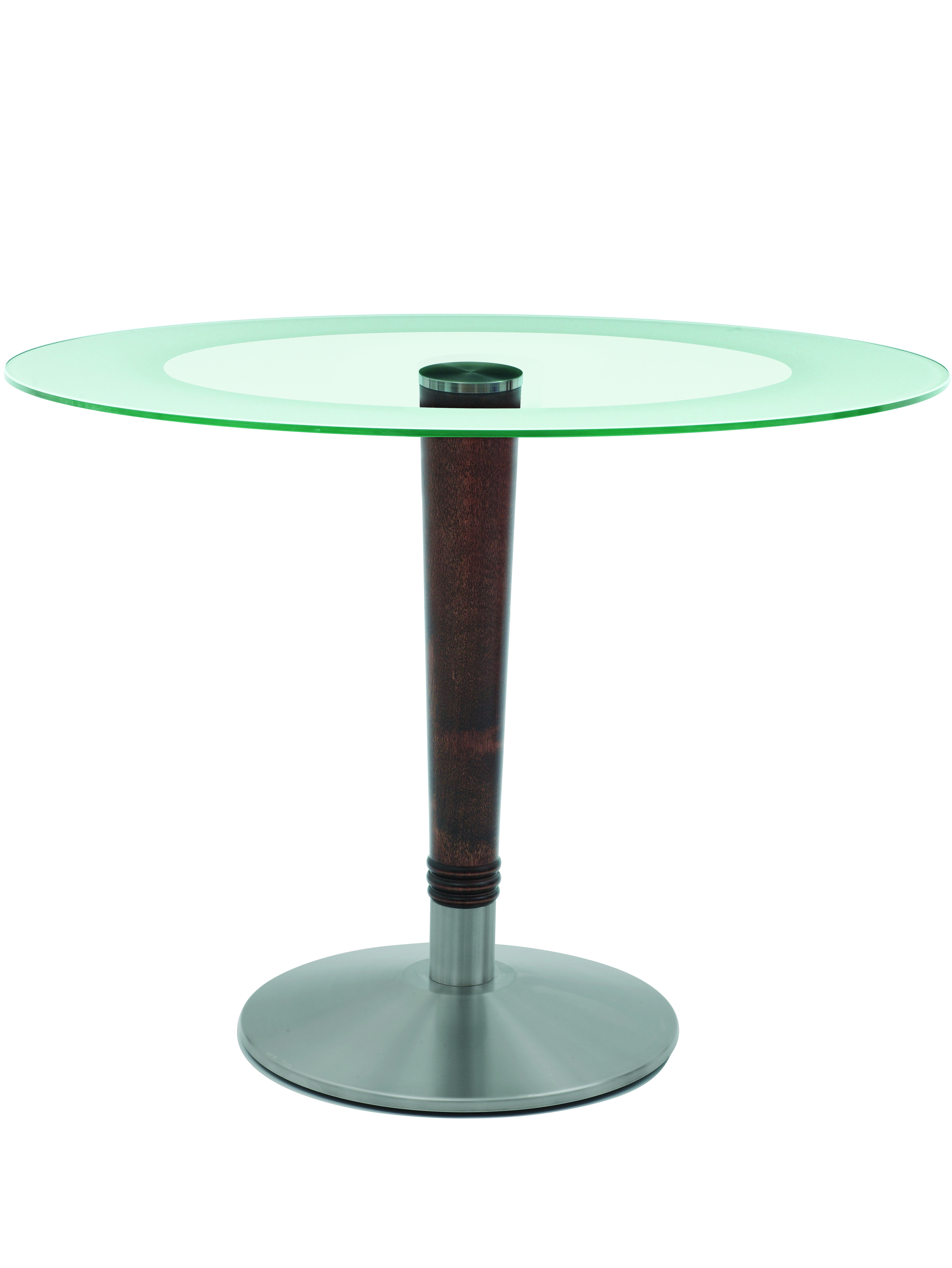 Harvey Glass Top Oval Dining Table