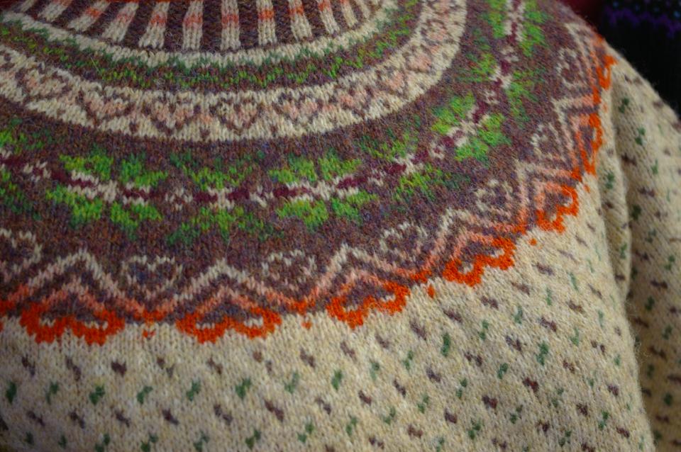 Linda Shearer's Colourbox Challenge Yoke Sweater