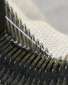 Machine knitting image