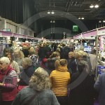 Visitors at Sewing Stitching and Quilting show Glasgow SEC