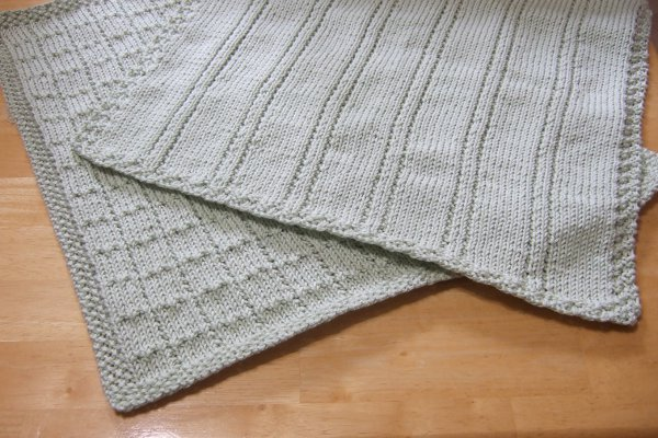 Knitting Patterns Galore Simple Lines Baby Blankets