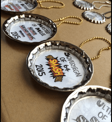 Easy bottlecap pendants without epoxy stickers