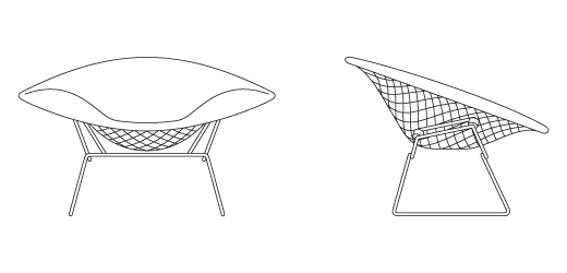 Bertoia Large Diamond Chair Knoll