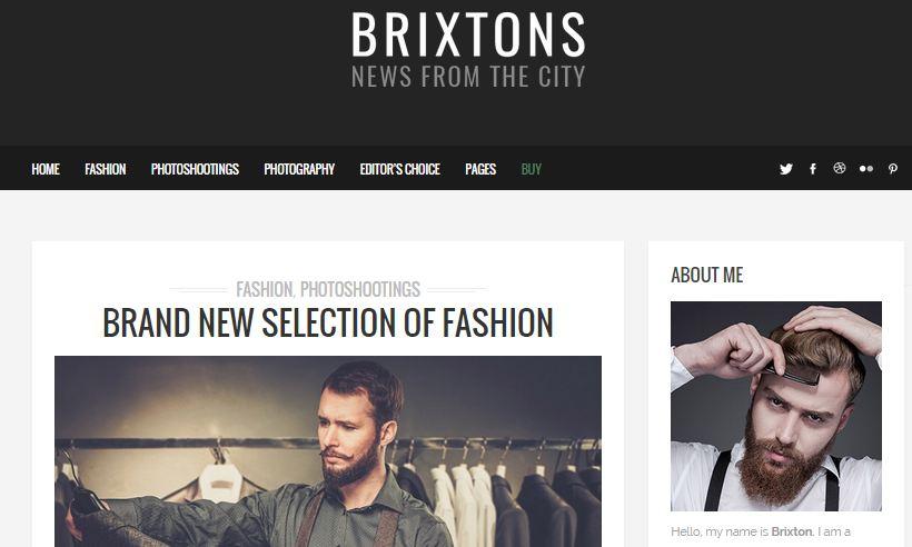 Brixtons Simple WordPress Theme