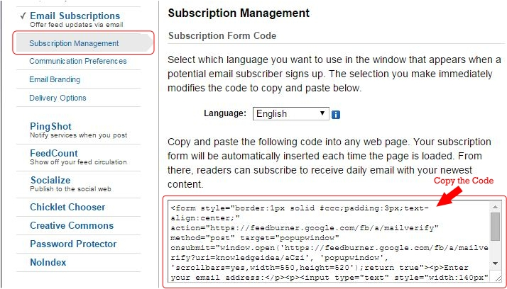 How to Setup FeedBurner For WordPress Step 7