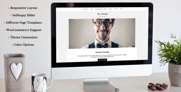 The Thinker Simple WordPress Theme