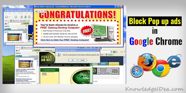 How to Block Pop up ads in Google Chrome