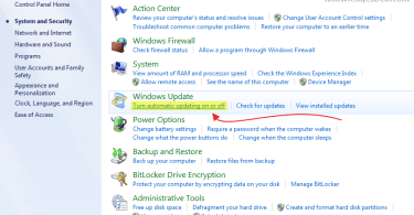 How to Turn Off Window 7 Automatic Updates Step 3