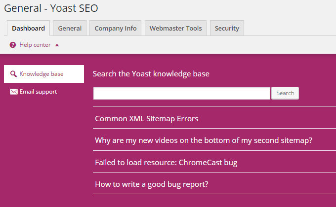 Yoast SEO 3.3 Features Review Knowledge Base