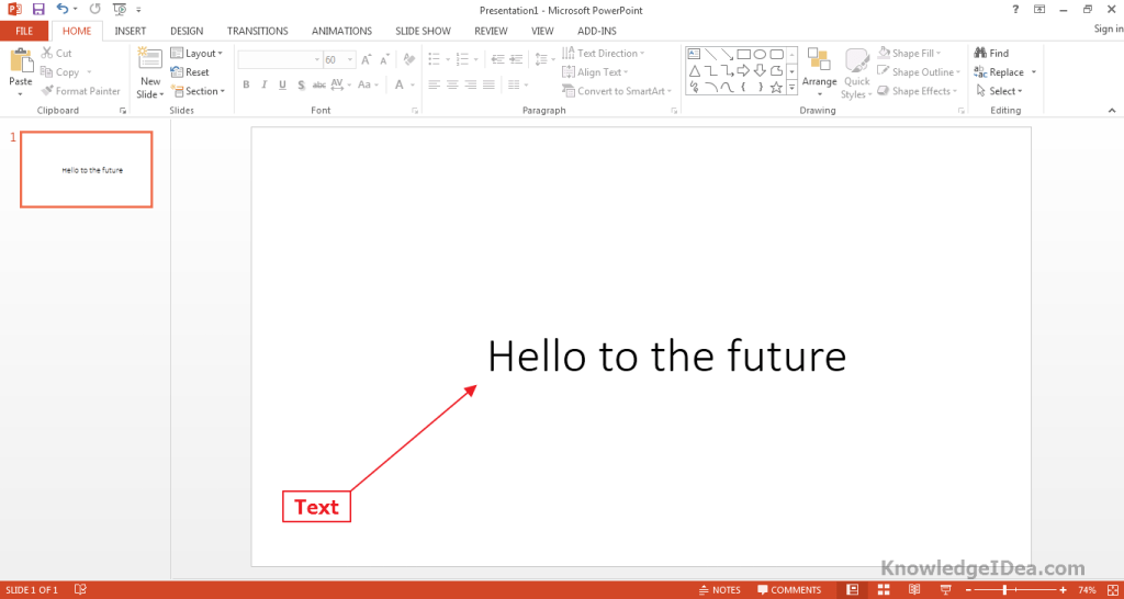 Keyboard Typing Effect on Text in PowerPoint