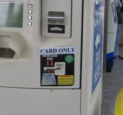 Gas Station Pump Credit Card Reader