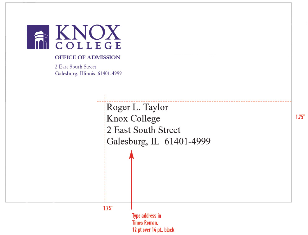 Stationery System - Graphic Identities Standards - Knox College
