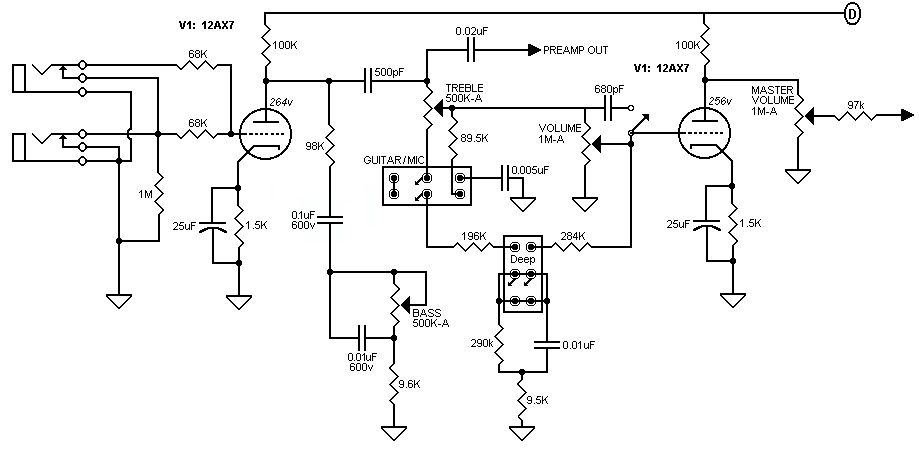guitar preamp schematics