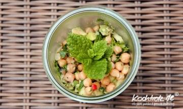 Kichererbsen-Salat mit Melone