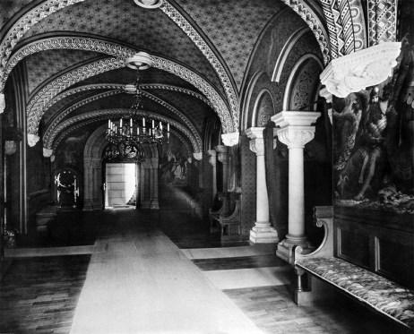Korridor im 3. Obergeschoss Neuschwanstein Königliche Wohnung - Verlag Franz Hanfstaengl