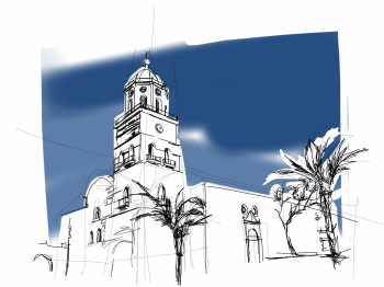 Church Teguise | Prints on paper or canvas | various sizes and prices