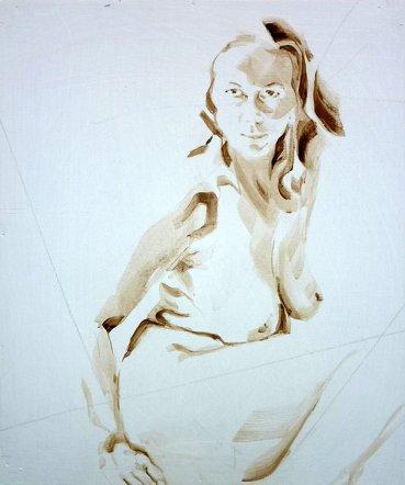 Nude Self 04| Acrylic on wooden panel | 70x50 cm | 650€