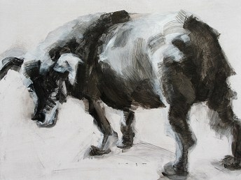 Stray Dog | Acrylic on wooden panel | 70x50 cm | 695€