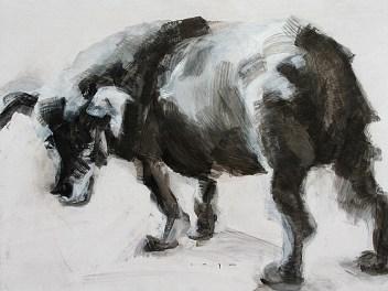 Stray Dog | Acrylic on wooden panel | 70x50 cm | 600€