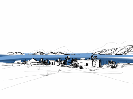 Famara, view on La Graciosa