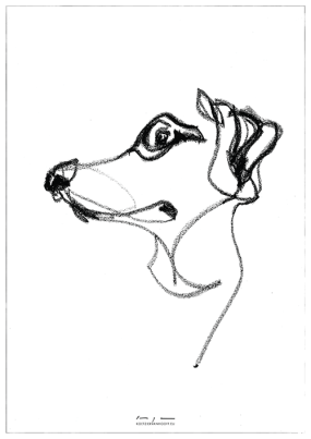 Dog drawing 01  print available