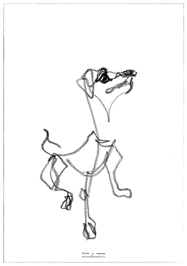 Dog drawing 02| original and print available