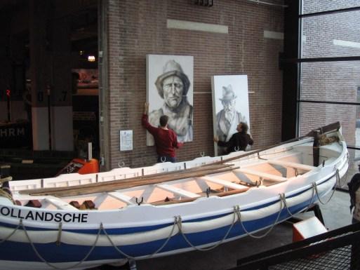 Reddingmuseum Den Helder NL, Portraits of Dorus Rijkers and Phillipus Stam Kalfie