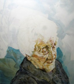 Jean Louise Calment | Acrylic on linnen canvas| 70x80 (?) cm | 750€