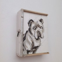 Vincent, Portrait on wooden drawer