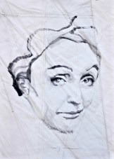 Edith Piaf, portrait painting drawing