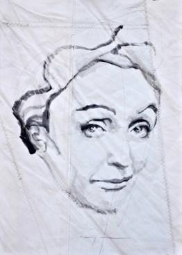 Edith Piaf|Acrylic on sailcloth | 50x70 cm | 650€