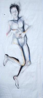 Woman Model Sail 03 | Acrylic/charcoal on sailcloth | 90x200 cm |1200€