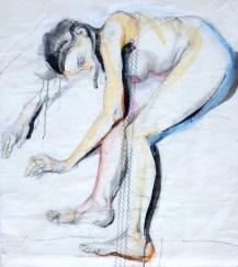 Woman Model Sail 07 |Acrylic on sailcloth | 98x98 cm | 1400€