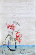 Flower Sail Chair |Acrylic on sailcloth | 88x137 cm | Steel frame top&bottom | 1200€