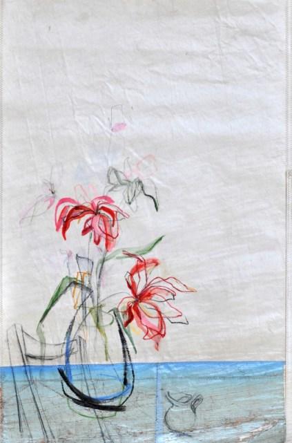 Flower Sail Chair |Acrylic on sailcloth | 88x137 cm | Steel frame top&bottom | 1300€