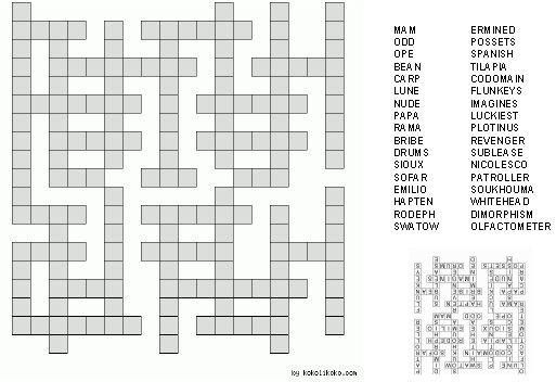 Simple printable crosswords Trials Ireland