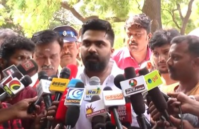 Simbu Speaks To Media at Commissioner Office