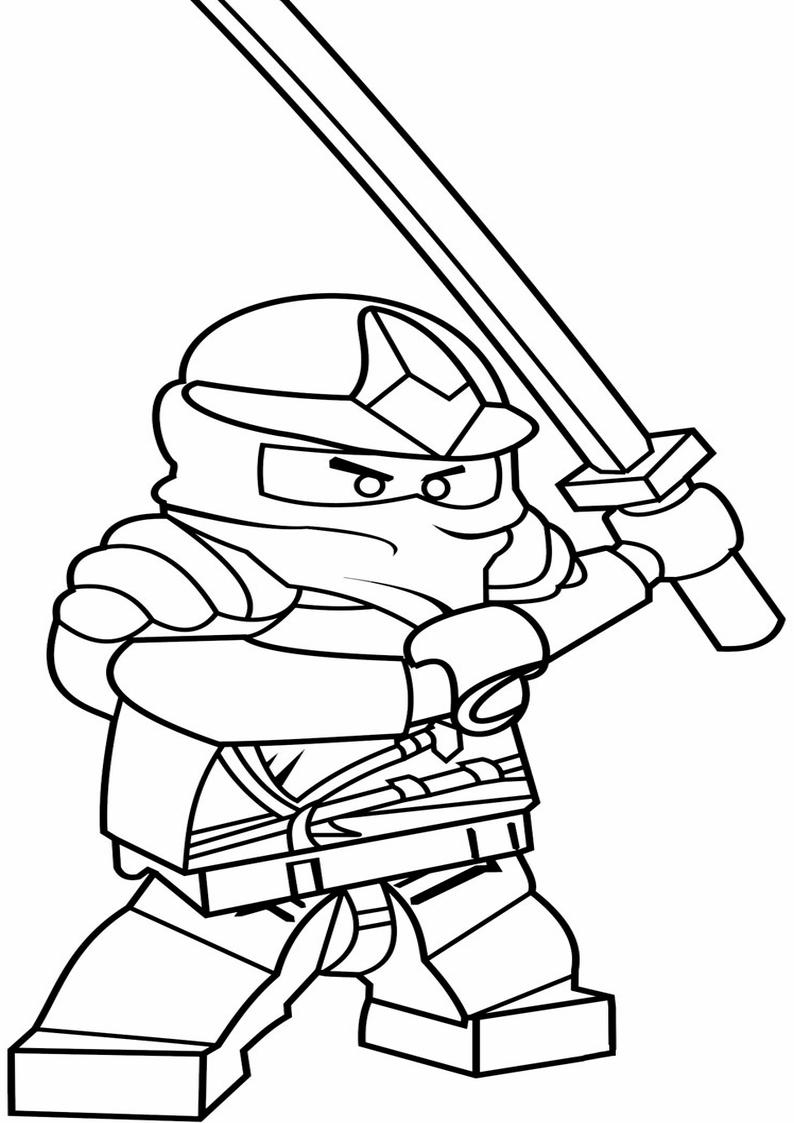 lego ninjago kolorowanka strona 6 z 10