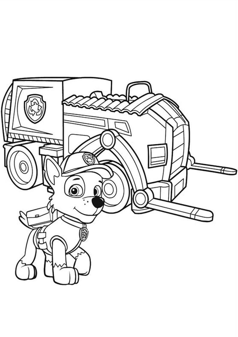 snap kolorowanki psi patrol do druku dla dzieci i