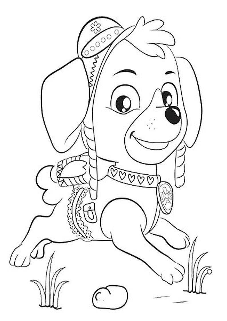 kolorowanka psi patrol do wydruku dla dzieci nr 10