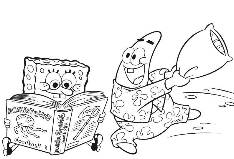 Kolorowanka Spongebob Malowanka Patryk Rozgwiazda Do Druku
