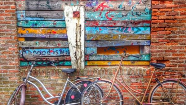 Graffiti - Fahrrad - bunt