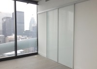 Frosted Glass Sliding Barn Doors - Komandor