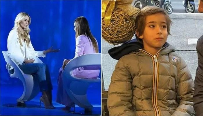 Elena Santarelli e il figlio Giacomo