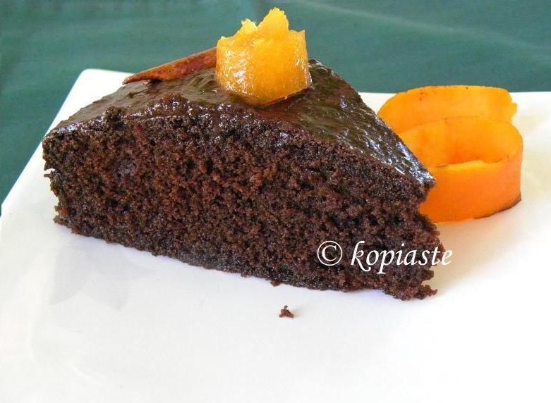 Chocolate-orange Ravani