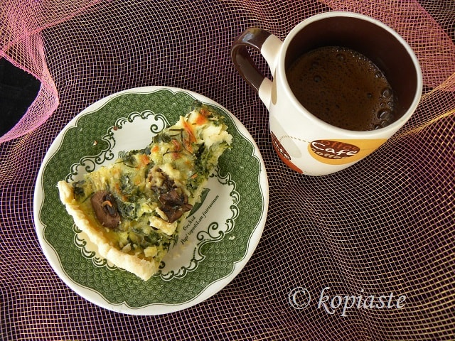 Spinach and Mushroom Tart with Buffalo Butter and Cheese - Kopiaste ...