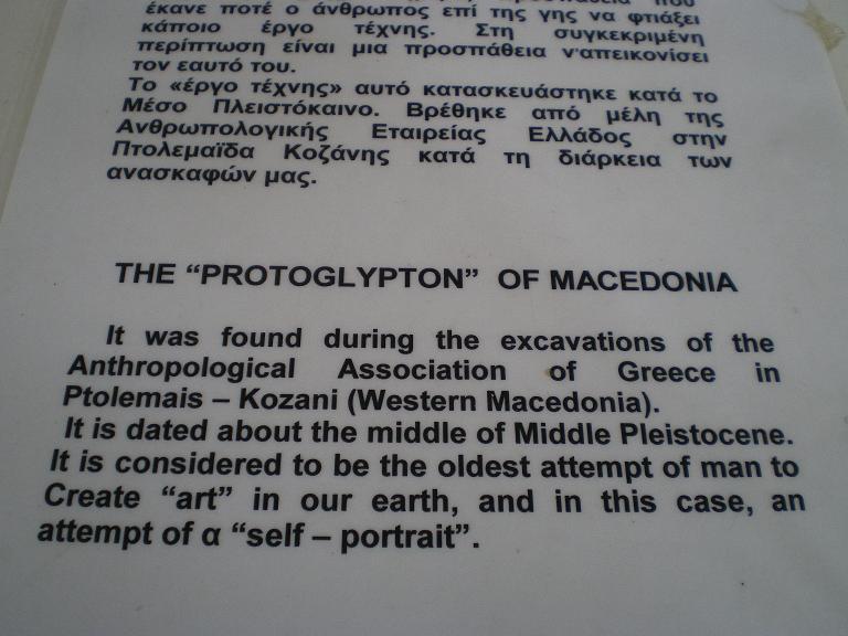 The protoglypton, explanations
