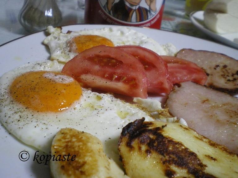 Cypriot breakfast