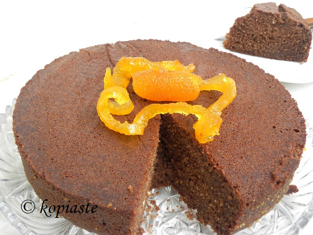 Chocolate-orange Ravani whole